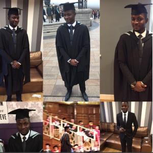 (Pics) Reuben Abati's son ,James Abati graduates with LL.M from the University of Hull UK