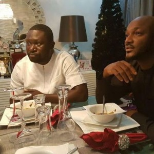 Photos: 2Face gives Big Boy Ayiri Emami a special treat in his home