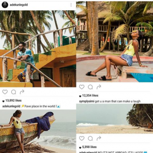 Couple Alert?! Simi & Adekunle Gold Vacation Together In Mystery Location