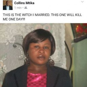 """Sick"" Husband Calls His Wife A Witch On Social Media… says she'll kill him"