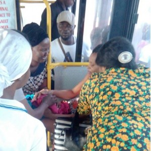 Woman Gives Birth In A BRT Bus In Lagos (Photos)