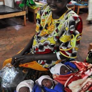 Photo: Woman gives birth to triplets at IDP camp in Tanzania