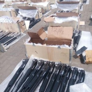 Photos: Nigeria Customs reportedly seize 49 boxes containing 661 pieces of pump action rifles