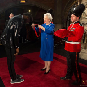 PHOTO: Basketmouth gets Knighted by the Queen of England