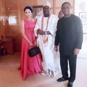 Femi Fani-Kayode and wife Precious pay courtesy visit to Ooni of Ife (photos)