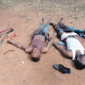 Photo: Two armed robbers killed during gun duel with police in Ibadan