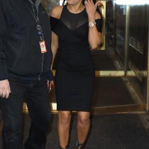 Braless Mel B Flaunts Envious Figure In Sexy Black Dress
