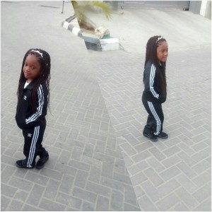 New Photos Of 2face And Annie Idibia's 2nd Child As She Turns 3