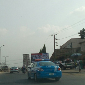 Photos: FRSC operational car spotted with broken Tall light in Ibadan