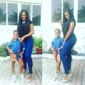 Lovely photo of Basketmouth's wife and daughter