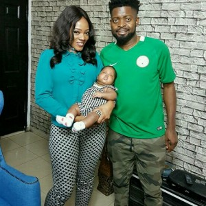 Basketmouth & Wife, Elsie Visit Seyi Law & His Wife (Photos)
