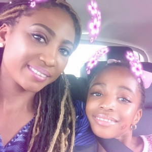 Lovely photos of Julius Agwu's wife and daughter