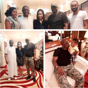 Fayose visits Fani Kayode's Abuja home(Photos)
