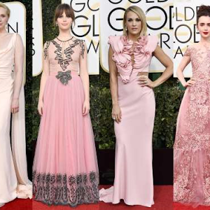 Red Carpet photos of stars at the 74th Golden Globe Awards