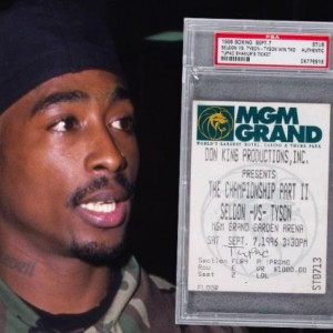 Tupac's ticket stub to Mike Tyson's fight in 1996 auctions for $25k