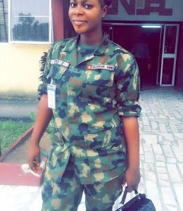 See This Sexy Nigerian female Army officer (Photos)