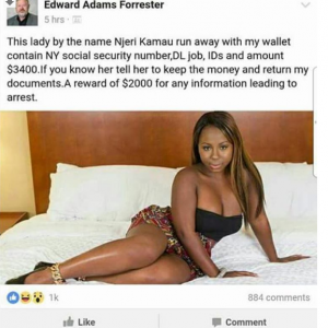 American Calls Out Kenyan Lady Who Stole From Him Offers $2,000 For Her Arrest