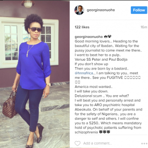 Nollywood Actress Georgina Onuoha Heads To Ibadan To 'Beat' Kemi Olunloyo