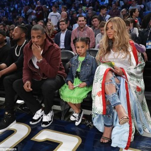 Pregnant Beyonce, Jay Z And Blue Ivy At The 2017 NBA All-star Game