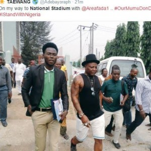 Charly Boy Heads To National Stadium To Join The Protest