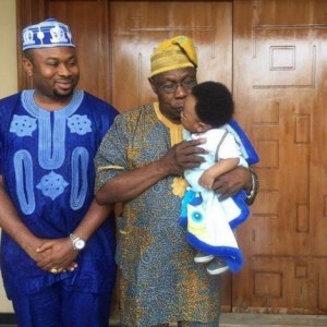 3 Generations in one photo featuring Obasanjo, Churchill and King Andre