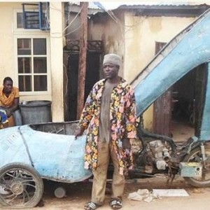 Nigerian man converts motorcycle into giant high-heeled shoe