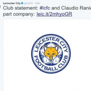 Leicester City sacks Claudio Raneiri