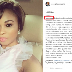 Kemi Olunloyo Spams Georgina Onuoha's Instagram Photos