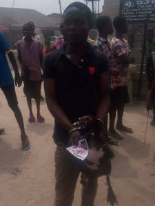 Photos: Young man caught after he stole a duck in Delta State