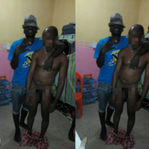 (Photos)Students force lecturer to mop floor, wash toilet after catching him naked in student's apartment