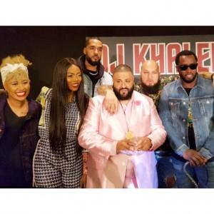 Tiwa Savage Pictured With DJ Khaled, Diddy, Emele Sande In LA