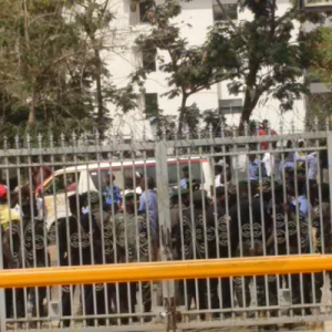 Photos: Protesters vandalize MTN's Abuja office over xenophobic attacks in South Africa
