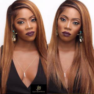Tiwa Savage wows in honey blonde hair