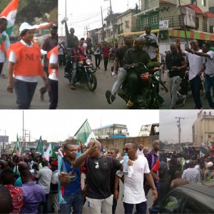 (Photos) Charly Boy joins NLC protest in Lagos