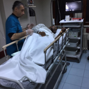 Photo: Footballer, Onazi Ogenyi recovers after a successful surgery