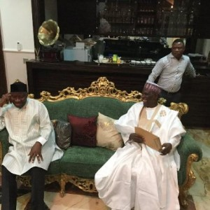 Photos: PDP members visit former President Goodluck Jonathan