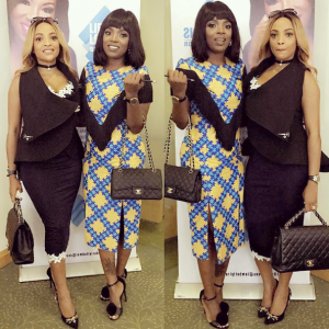 Annie Idibia and Freda Francis step out in style