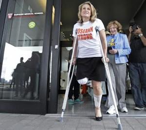 Photos: Boston Marathon bombing survivor set to wed firefighter who saved her