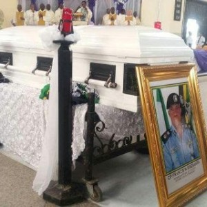 Photos from the funeral of former Rivers state police commissioner, Mobolaji Odesanya