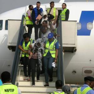Photos: 162 stranded Nigerians repatriated from Libya