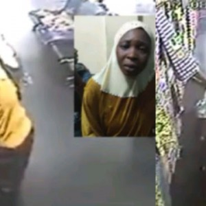 3 Women including an Alhaja caught on camera stealing wrappers from a Lagos shop (Video)