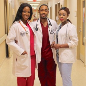 Photo of son, mother and fiance, who are all in the medical field goes viral