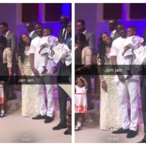 Tiwa Savage, Teebillz and Their Son, Jamil Attend Church Together (Photo)