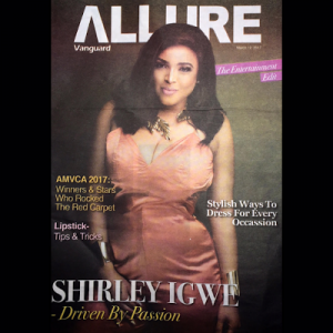 Actress Shirley Igwe cover Vanguard Allure new issue
