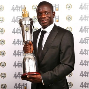 N'Golo Kante Crowned PFA Player of the Year 2017 Beating Hazard, Kane, Lukaku & Others (Photos)