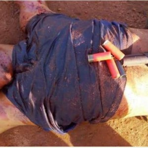 See the Graphic Photo of Notorious Armed Robber Shot Dead in Okigwe