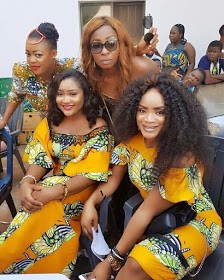 Angela Okorie, Eve Esin, Uche Ogbodo, Others At Actress Anita Joseph's Father's Funeral | Photos