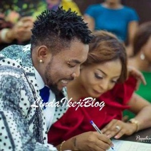 Singer, Oritsefemi Ignores His 3 Babymamas, Ties the Knot with PR Expert in Lagos Private Wedding (Photos)