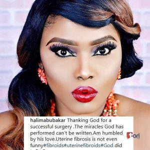 Halima Abubakar Slams Celebs Who Didn't Reach Out to Her as She Undergoes Fibroid Surgery in India (Photos)