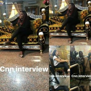 Nigerian Actress, Funke Akindele Plays Host to CNN at Her Home (Photos)